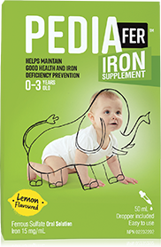 Package iron supplements